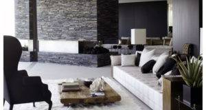 Black White Modern Living Room Decorating Ideas