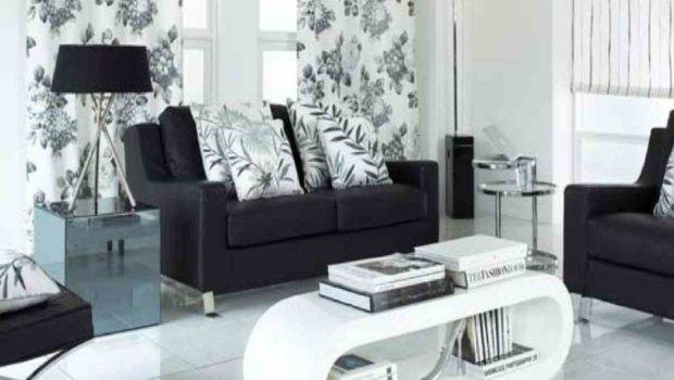 Black White Modern Living Room Design