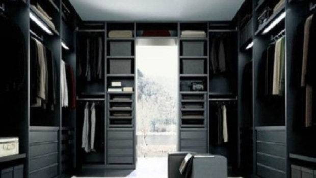 Black White Walk Closet Designs