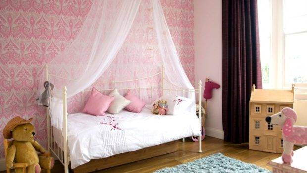 Black Wooden Canopy Bed Long White Curtains Also