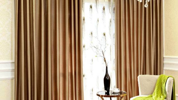 Blackout Luxury Window Curtains Champagne Color