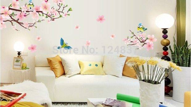 Bloom Flower Wall Stickers Home Decoration Removable Vinyl Decals