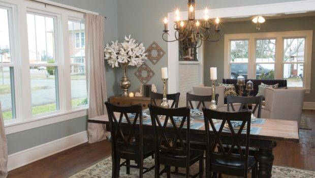 Blue Dining Room Country Table Chairs French Doors