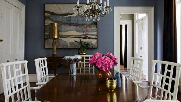 Blue Dining Room Walls Paint Color Chippendale