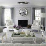 Blue Gray Living Room Contemporary Morgan Harrison