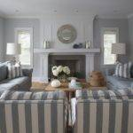 Blue Gray Living Room Cottage Lynn Morgan Design