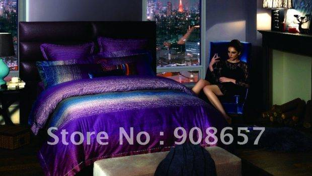 Blue Green Purple Bedding Car Tuning