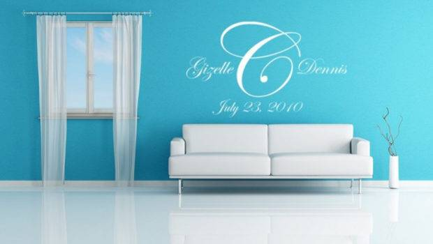 Blue Name Decal Sticker Vinyl Wall Decals Modern Decorating