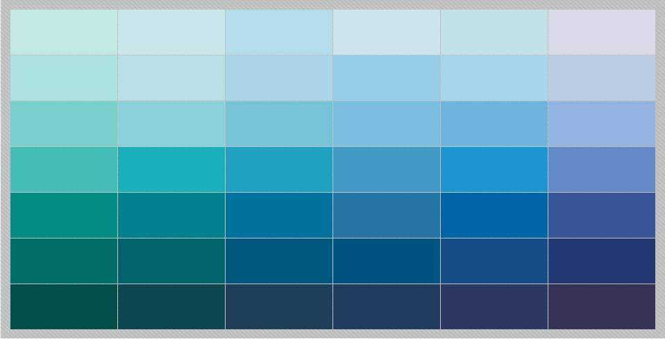 Different Shades Of Blue Paint shades of blue paint. the different shades of blue trendy