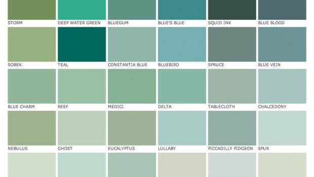 Blues Greens Paint Library