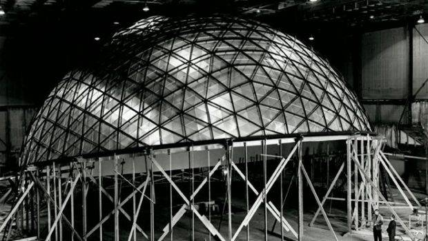 Boeing Spacearium Geodesic Dome Projection Screen Designed