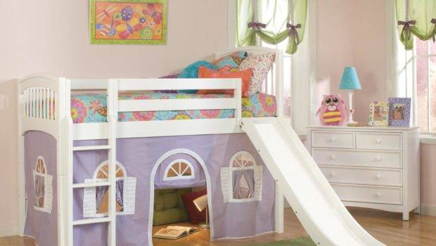 Bolton Kids Windsor Loft Bed Slide Purple White