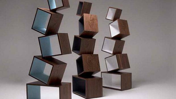 Bookcases Furniture Wooden Blocks Contemporary Modular