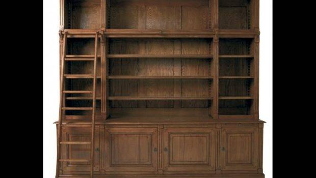 Bookcases High End Library Bookcase Ladder French Country Home