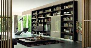Bookshelf Elegant Large Plans Modern Spaacious House