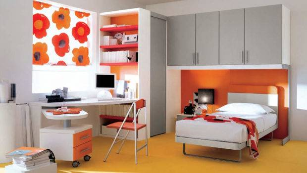 Boy Kids Bedroom Orange Interior Design Ideas Felmiatika
