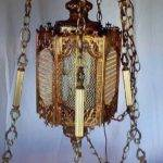 Brass Marble Made Italy Hanging Table Lamp Asking