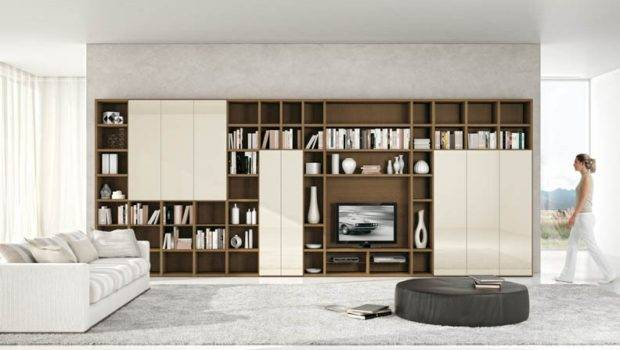 Bright Living Space Shelving Units Room Design Home