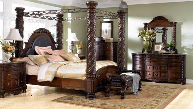 Bring Luxury Your Home Canopy Bedroom Set Architectdir