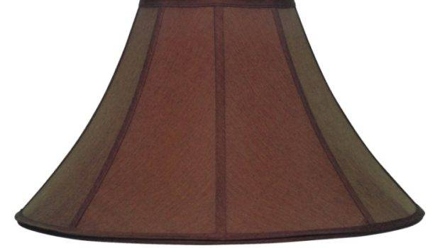 Brown Silk Coolie Lamp Shade Pro