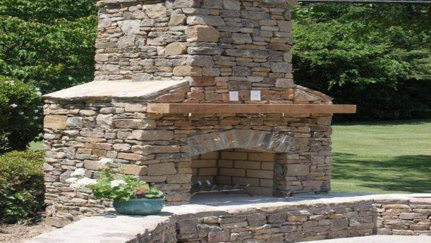 Build Rustic Stone Fireplaces Simple