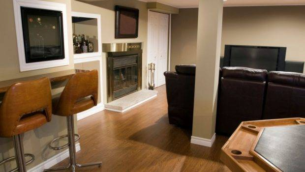 Build Your Own Man Cave Per Square Foot Basement Example