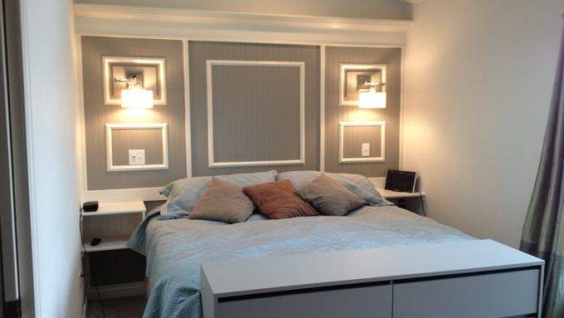 Built Headboard Shelving Bedrooms Pinterest