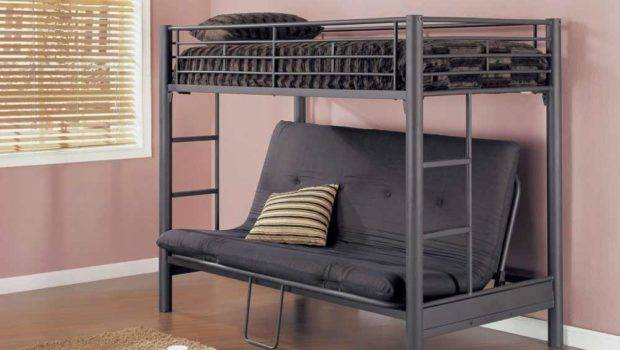 Bunk Bed Adults Matte Black Futon Furniture