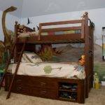 Bunk Bed Storage Awesome Boys Bedroom Dinosaur Theme