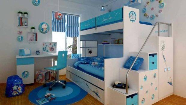 Bunk Beds Girls Room Design Ideas Blue
