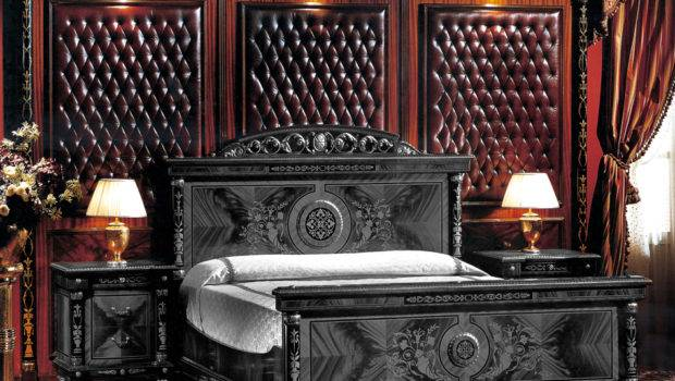 Burgundy Leather French Empire Bed Backboard Ifi