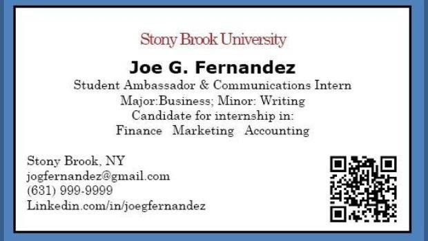 Business Cards Examples Students Theveliger