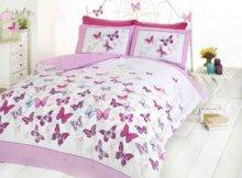 Butterflies Pink Girls Childrens Bedding Quilt Set Duvet Cover Ebay
