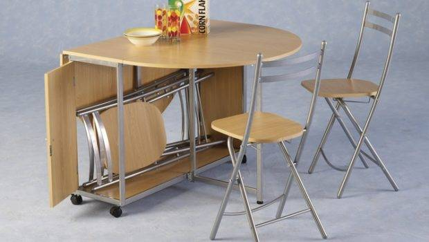Butterfly Dining Set Comprises Fold Away Kitchen Table