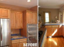 Cabinet Then Painting Kitchen Cabinets Off