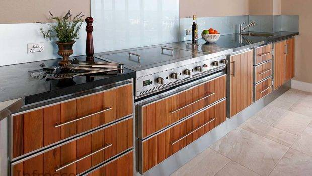 Cabinets Suitable Outdoor Kitchens Manufacture Stainless Steel