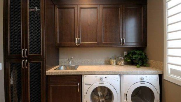 Cabinets Traditional Laundry Room Atmosphere Interior Design