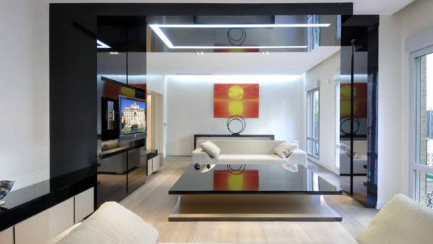 Calm Color Living Room Luxury Remodeled Apartment Iteriors
