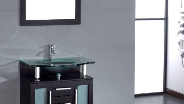 Cambridge Inch Glass Single Basin Sink Vanity Set