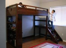 Camp Loft Bed Stairs Yourself Home Projects Ana White