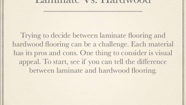 Can Tell Difference Between Laminate Hardwood