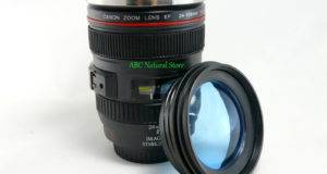 Canon Lens Thermos Coffee Cup Mug Glass Lid