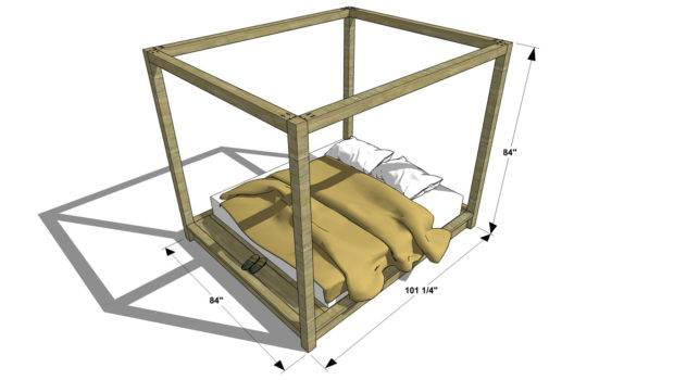 Canopy Bed Frame Design King Second Sun