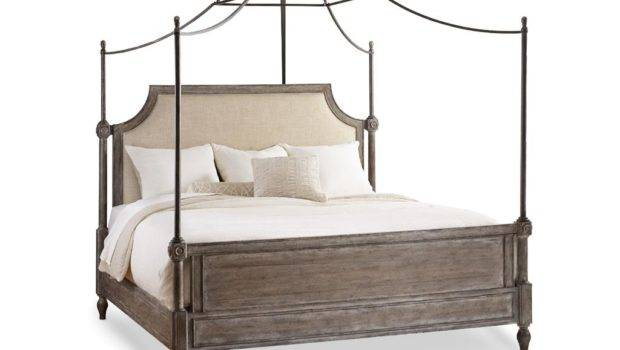 Canopy Bed True Vintage King Fabric Upholstered