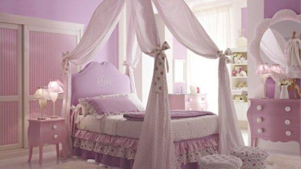 Canopy Little Girl Bed Beds Girls Bedroom Decorating