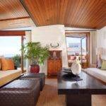 Careful Space Planning Tropical House Retro Living Room