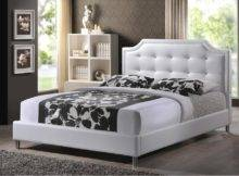 Carlotta White Modern Bed Upholstered Headboard