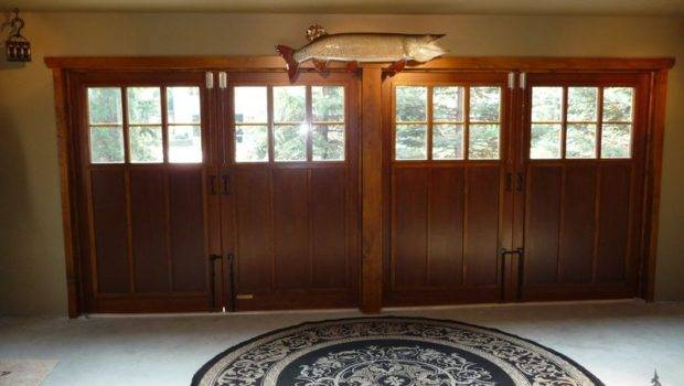 Carriage Doors Turn Garage Into Inviting Game Room