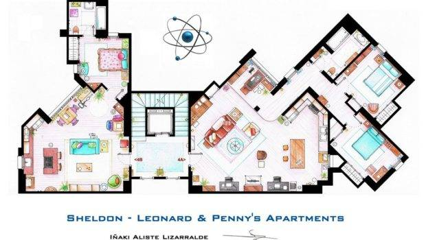 Carrie Bradshaw Big Bang Theory Apartment Floor Plans