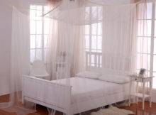 Casablanca Palace Post Bed Sheer Panel Canopy